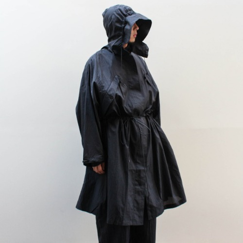 PACKABLE OVERSIZED PARKA_BLACK
