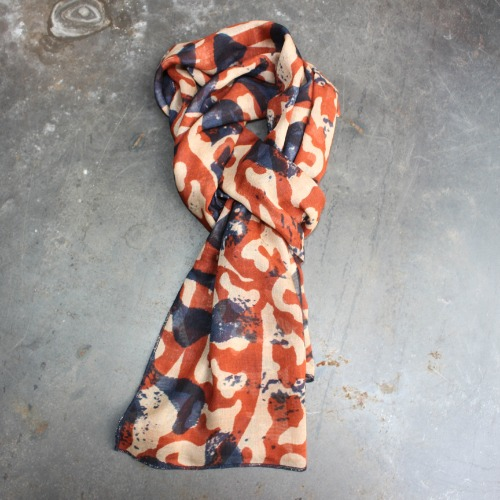SLYGO PRINTED SCARF_ORANGE