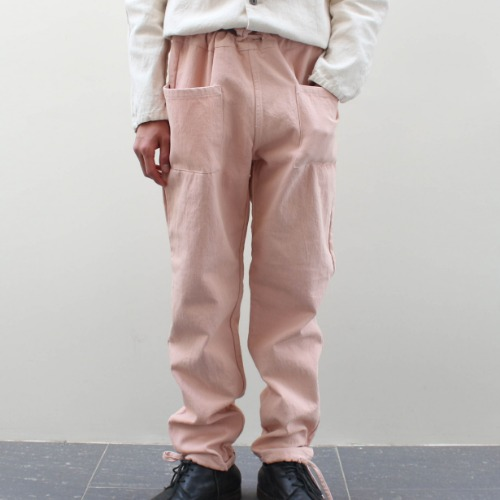PATCH TROUSER_PINK COTTON