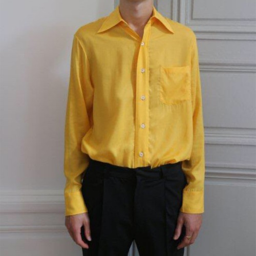 FLARE COLLAR SHIRT_YELLOW