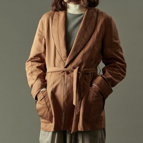 ROBE JACKET_CORDUROY STRIPE