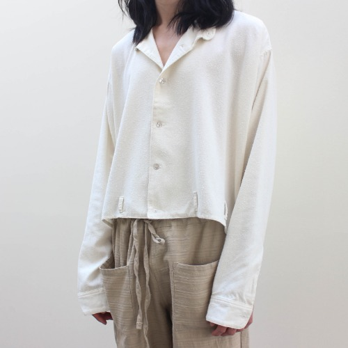 [Re-stock] BOAT NECK EZ SHIRT_WHITE WASHED SILK