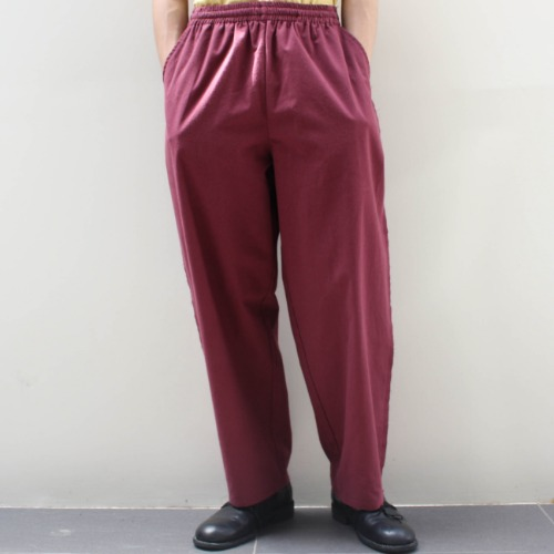 LITTLE SEXY STRAIGHT PANTS_WINE
