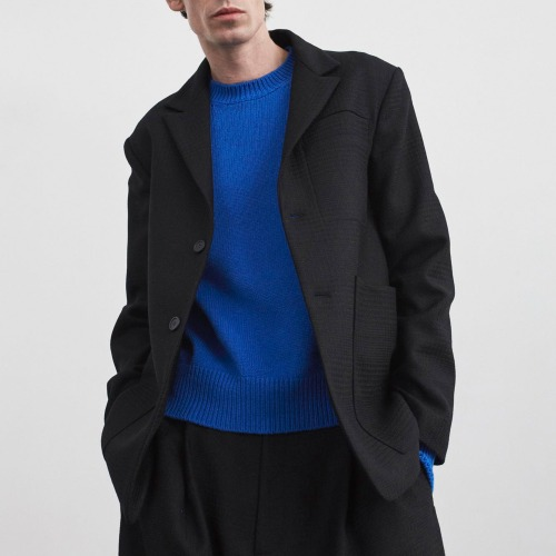 ZHANG BLUFF POCKET WOOL JACKET_BLACK