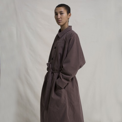 TRENCH COAT GABARDINE_RED BEAN