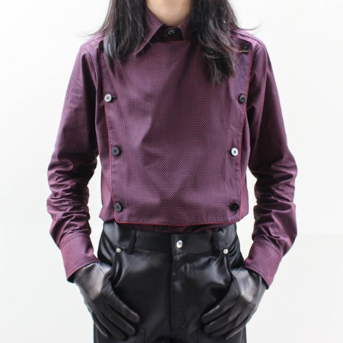 FLARE COLLAR SHIRT_DOTS