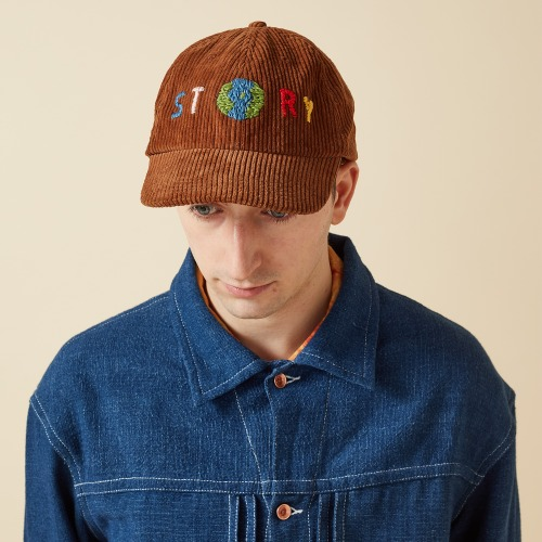 HEADY CAP_BARK CORDUROY