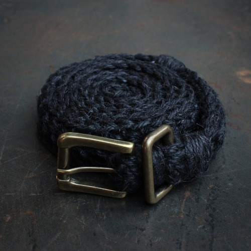 KNITTED BELT_BLACK