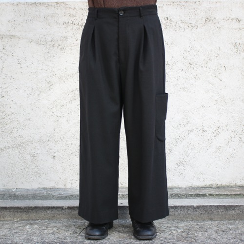 WIDE POCKET PANTS_BLACK