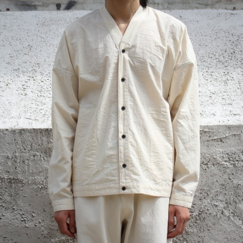 SHIRT#72 - KINARI COTTON/WOOL TYPEWRITER