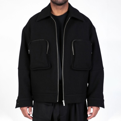 UTILITY SHORT JACKET_BLACK