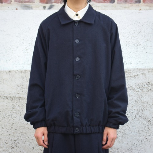BOMBER JACKET_BLUE FELT