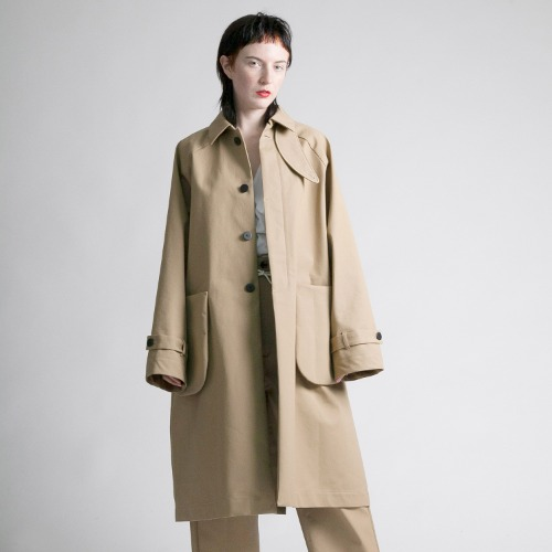 BONDING CHINO COAT_BEIGE