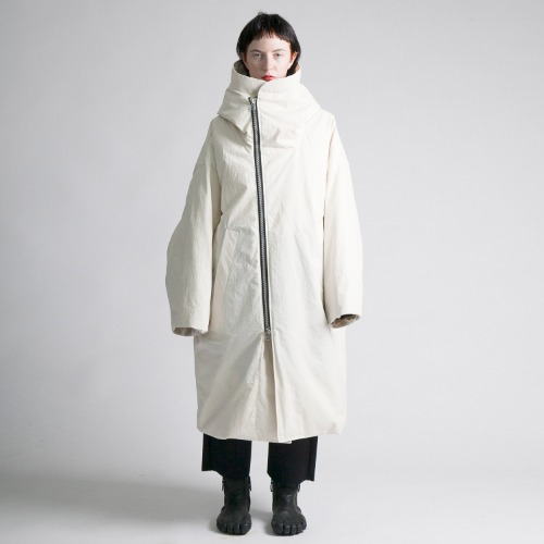 HORSE CLOTH DOWN HOODED COAT_KINARI