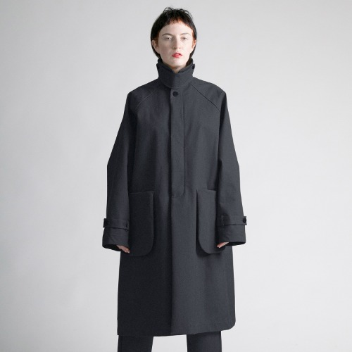 BONDING CHINO COAT_BLACK