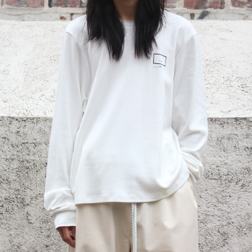 NORMAL TEE LONGSLEEVE_WHITE