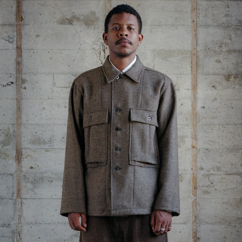 BELLOW POCKET JACKET_BRITISH HEAVY WOOL TWILL