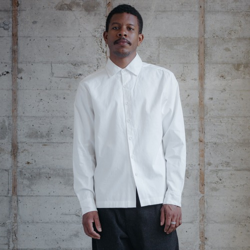 FLAT HEM SHIRT_ORGANIC OXFORD