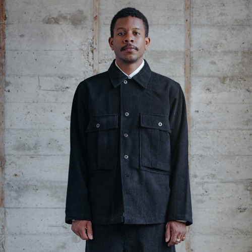 BELLOW POCKET JACKET_WOOL CORDUROY