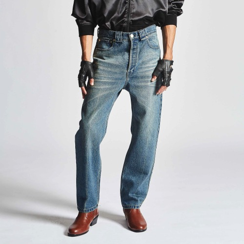 DIRTY WILLY JEANS_HEAVY WASHED INDIGO DENIM
