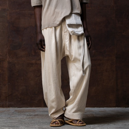 TROUSERS#55_KINARI HEMP CLOTH