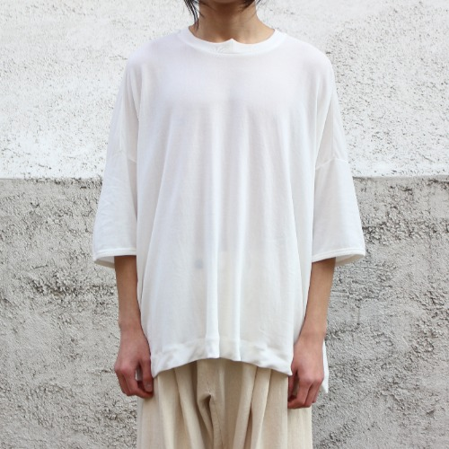 TEE#60_OFF WHITE WASHI/COTTON JERSEY