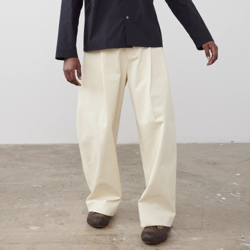 BEN VOLUME PANTS_CREAM