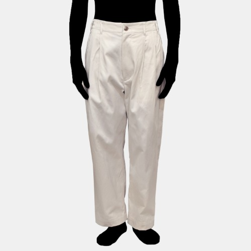 2TUCK PANTS_OFF WHITE