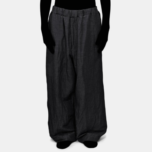 LINEN EASY PANTS_BLACK