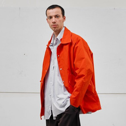 WAXED BASEBALL JACKET_ORANGE