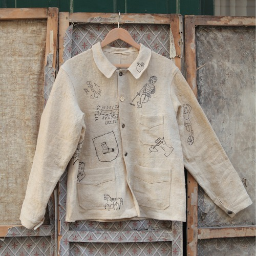 DRAWN JACKET_BEIGE