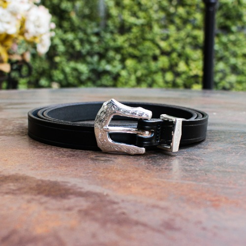 EXTRA LONG LEATHER BELT_BLACK