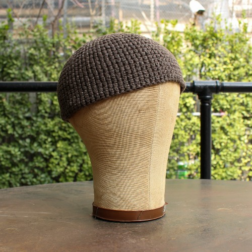 BEANIE#7_CLAY COTTON/LINEN