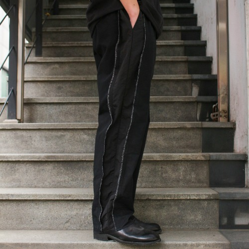SLICED TAILORED TROUSERS_BLACK