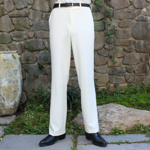 CLASSIC TAILORED SUIT PANTS_WHITE