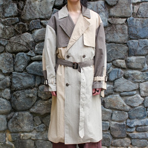 CRAZY TRENCH COAT_BROWN