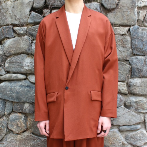 DOUBLE JACKET_RED BROWN