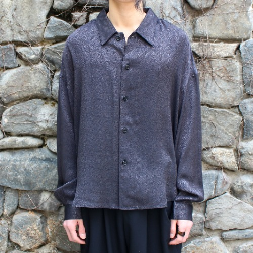 BIG SHIRT JACKET_BLACK JACQUARD DIA