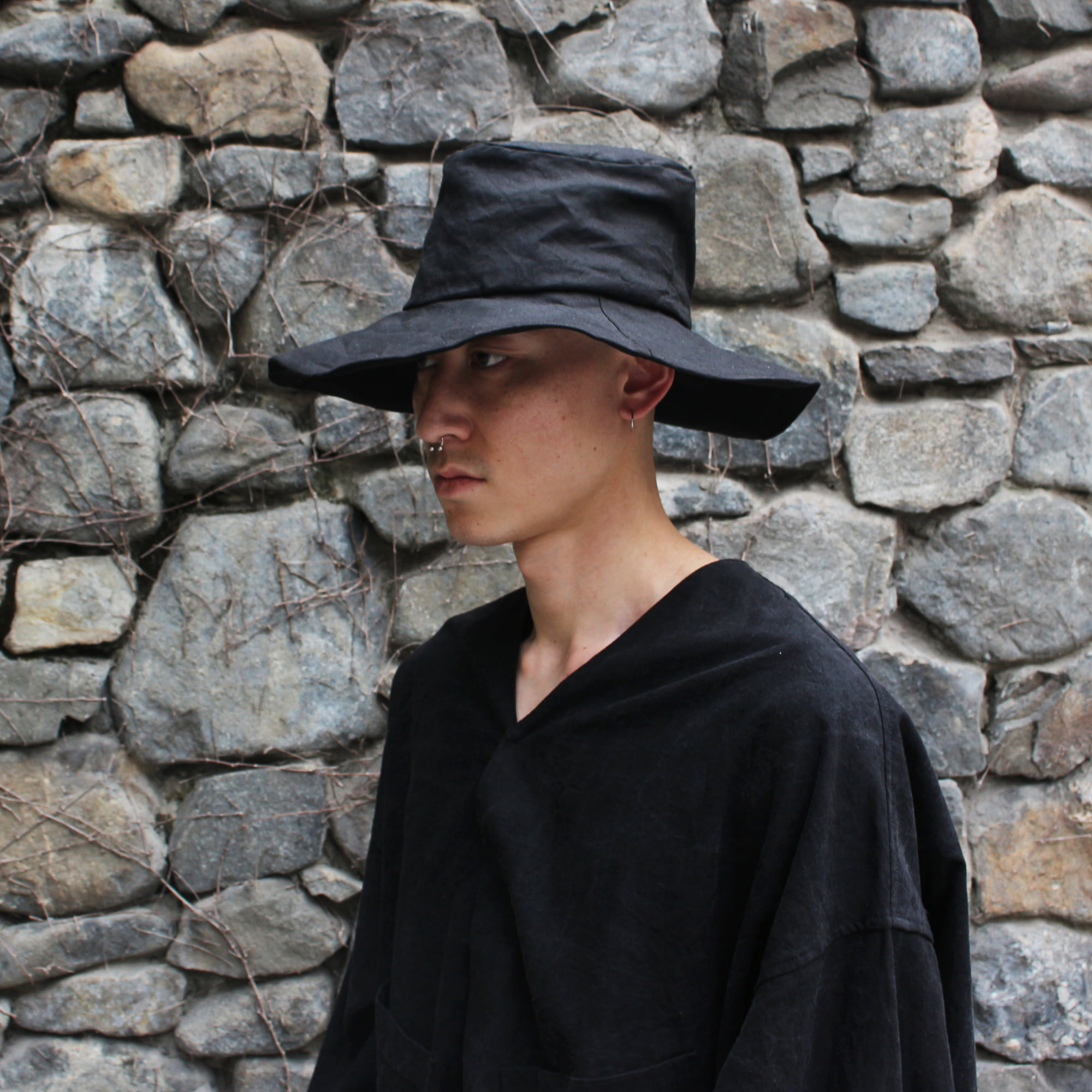 [EXCLUSIVE] LINEN HAT_BLACK
