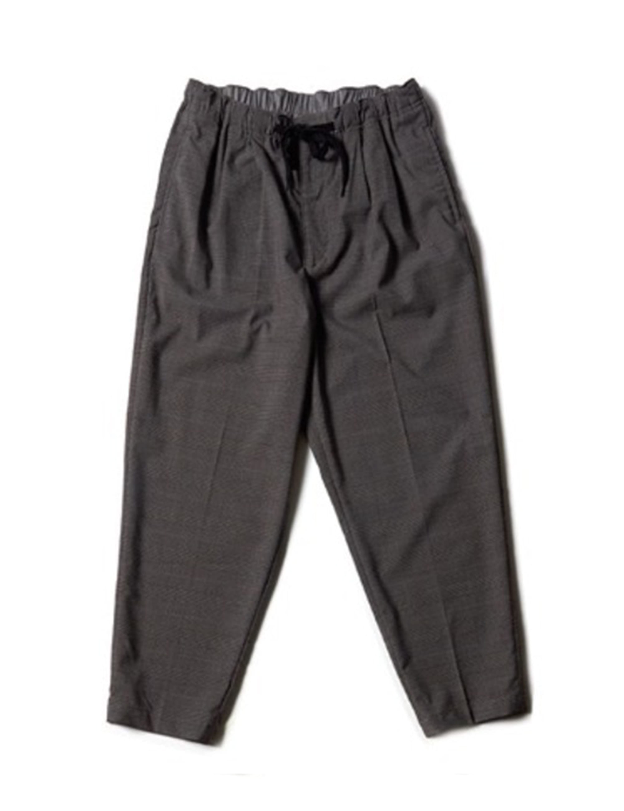 2PLEATS EASY PANTS CHECK_GREY