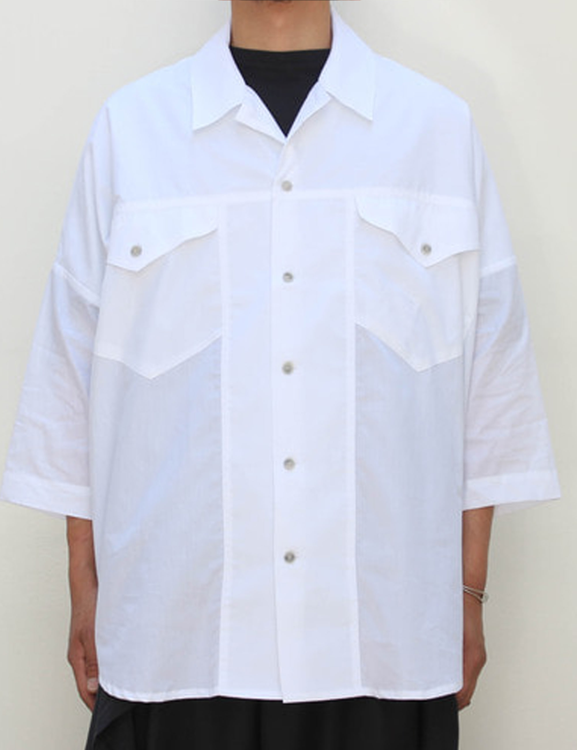 EXTRA LOOSE SHIRT_WHITE