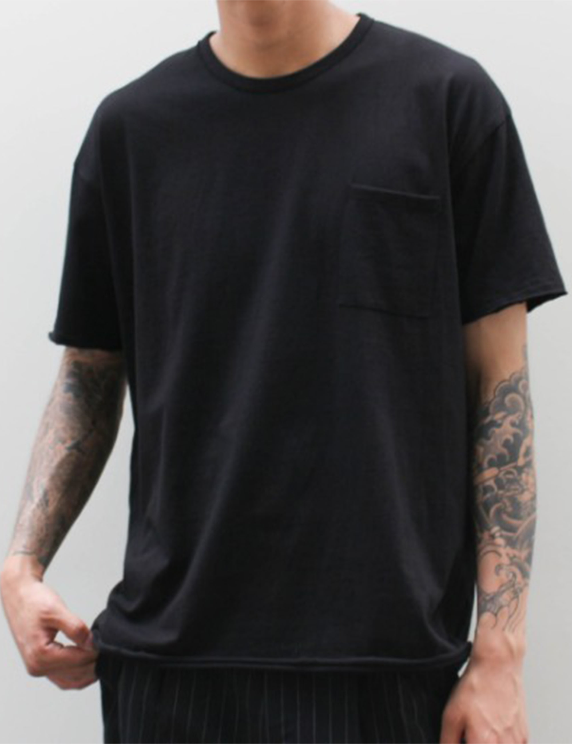 BASIC SEXY SS T-SHIRT_BLACK