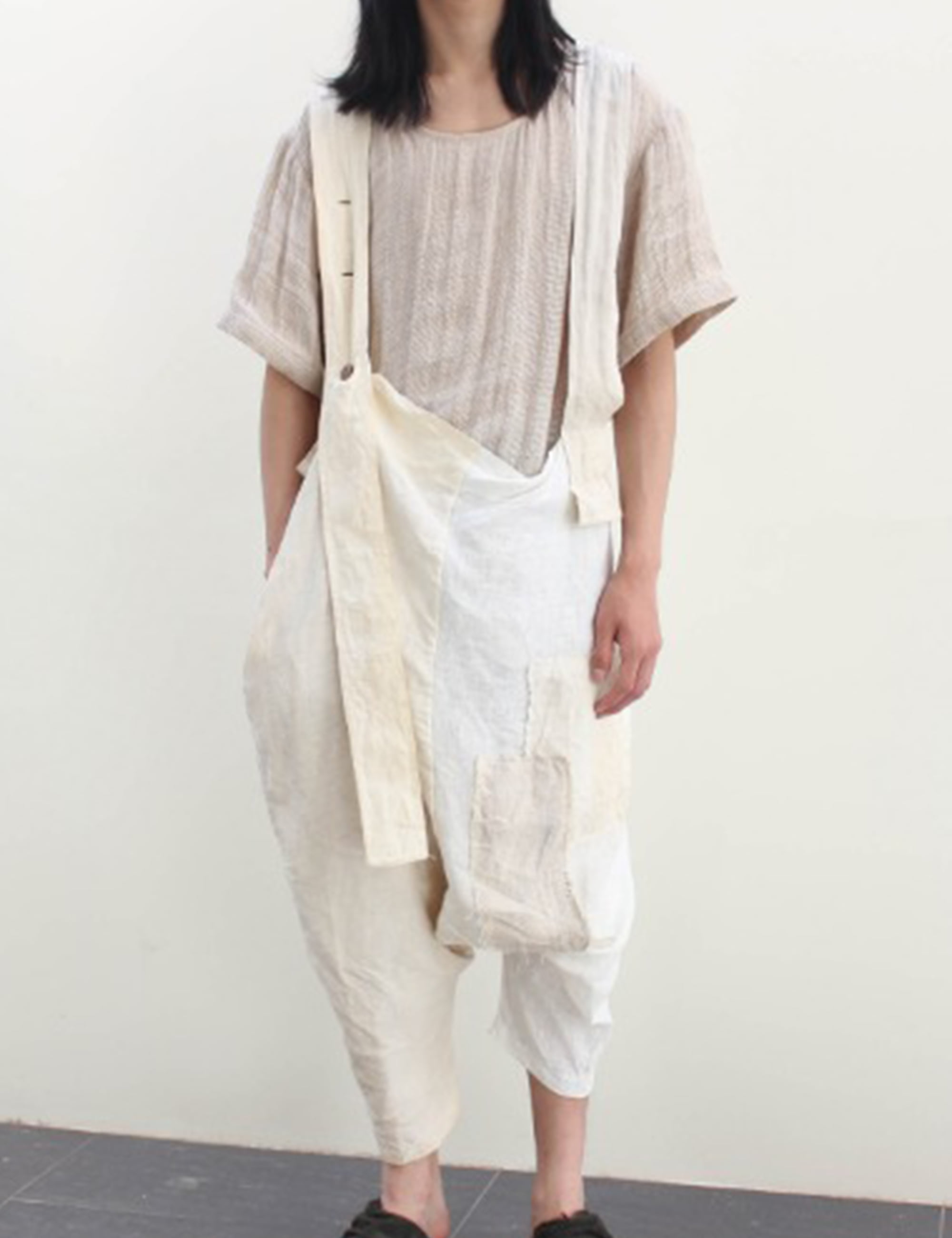 OLD LINEN WASHED OVERALL