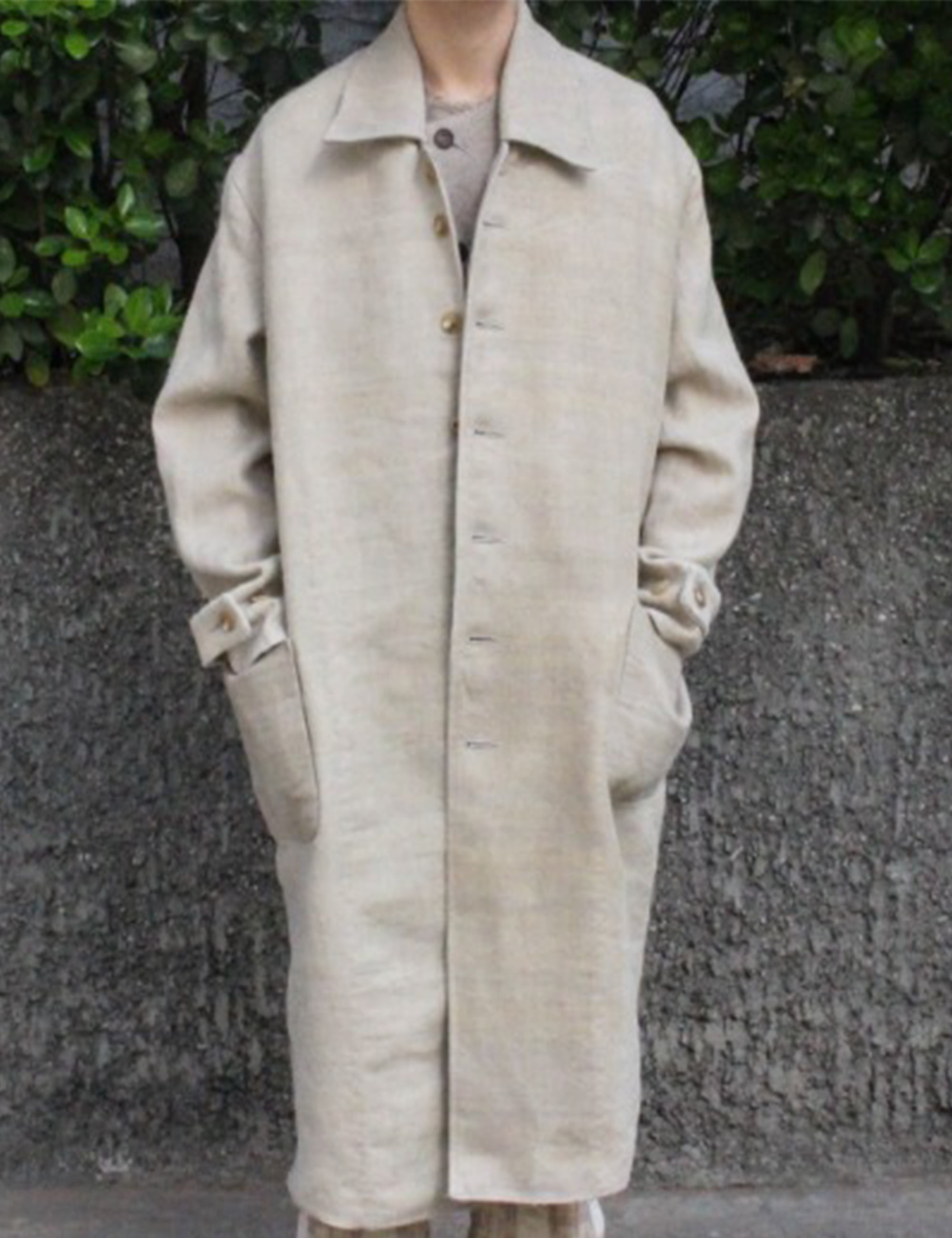 [EXCLUSIVE] A-LINE MACCOAT_BROWN SACK LINEN