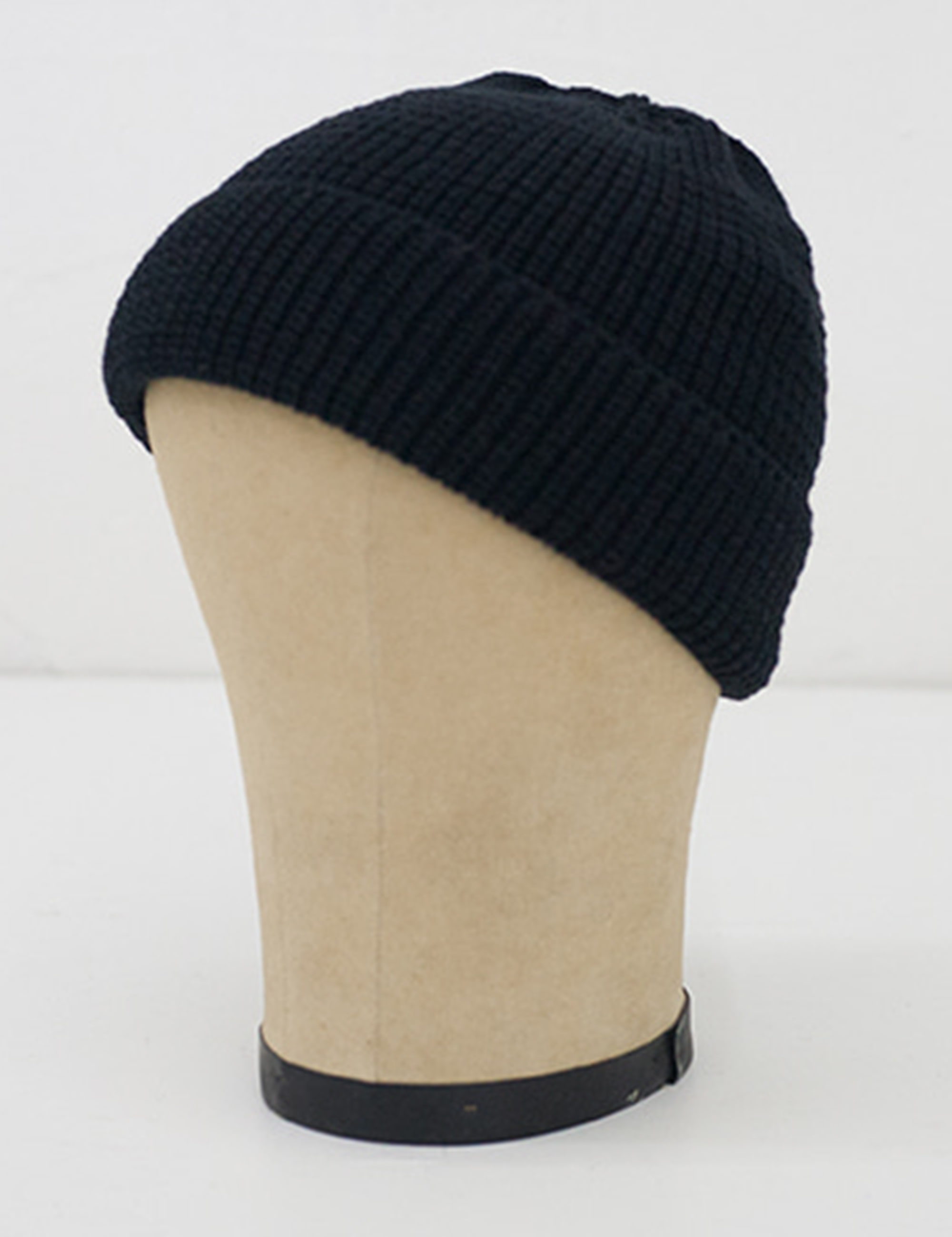 KNIT CAP SHORT_BLACK