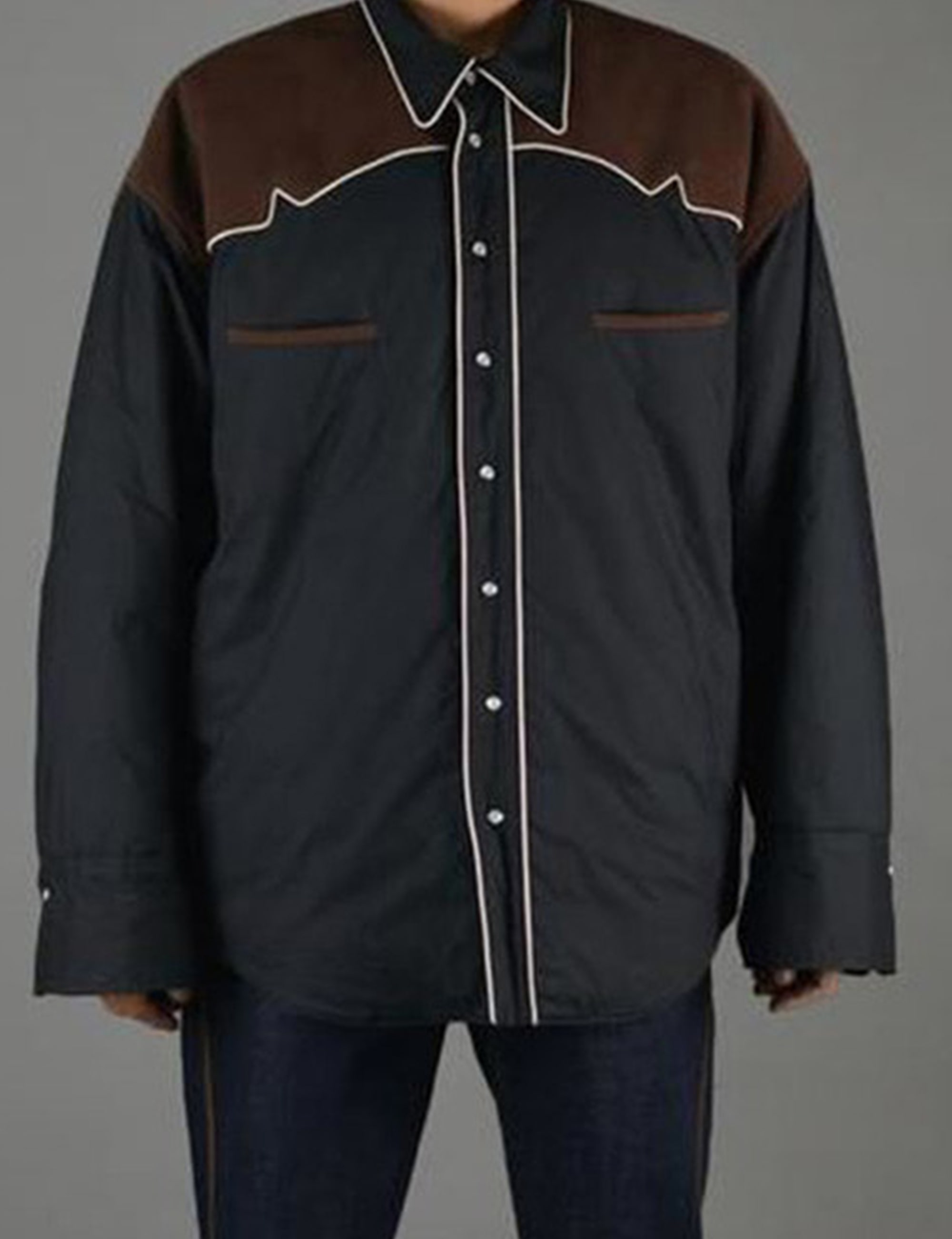 HUGE COWBOY PADDED SHIRT_BLACK