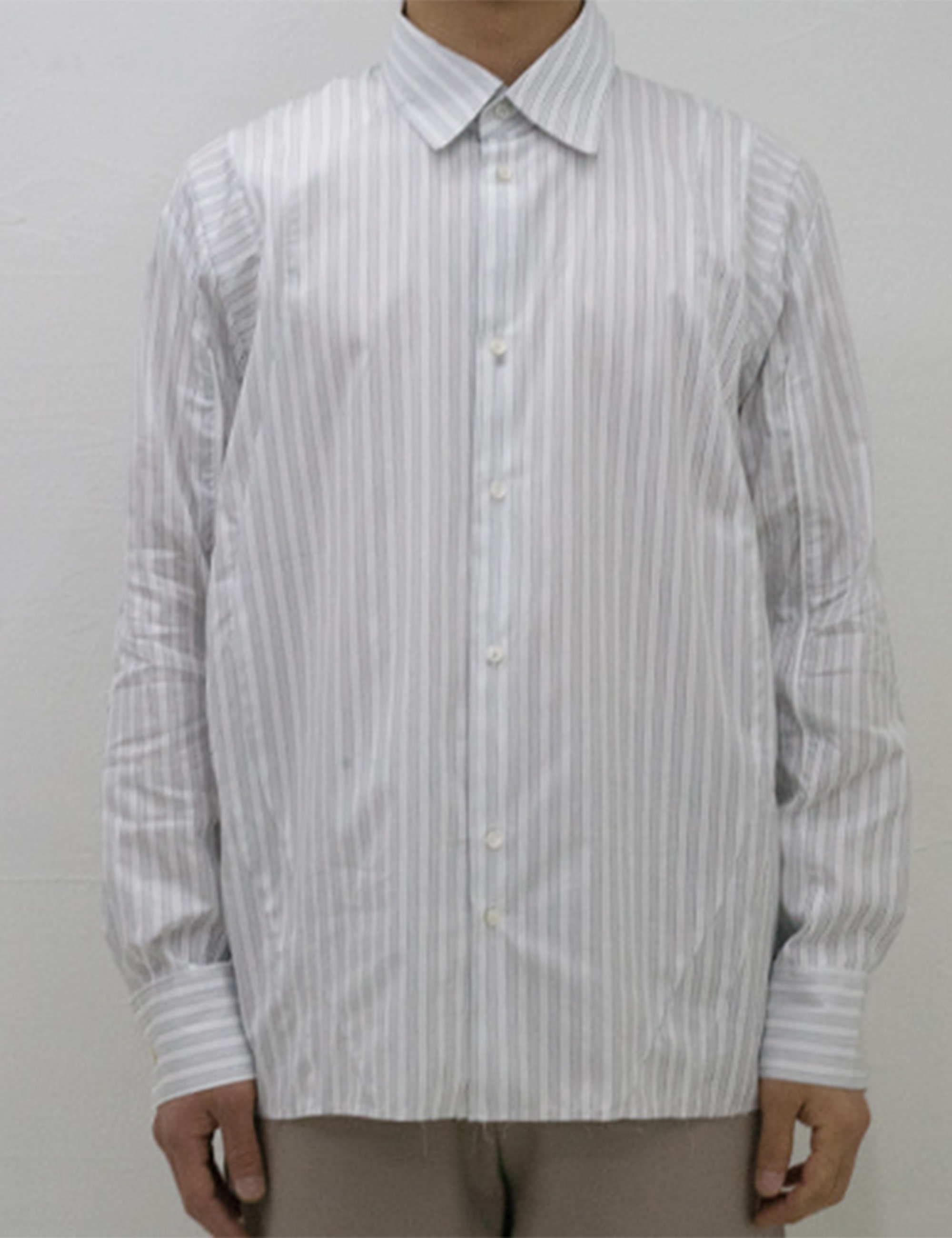 KEEPERS SHIRT_GREY STRIPED