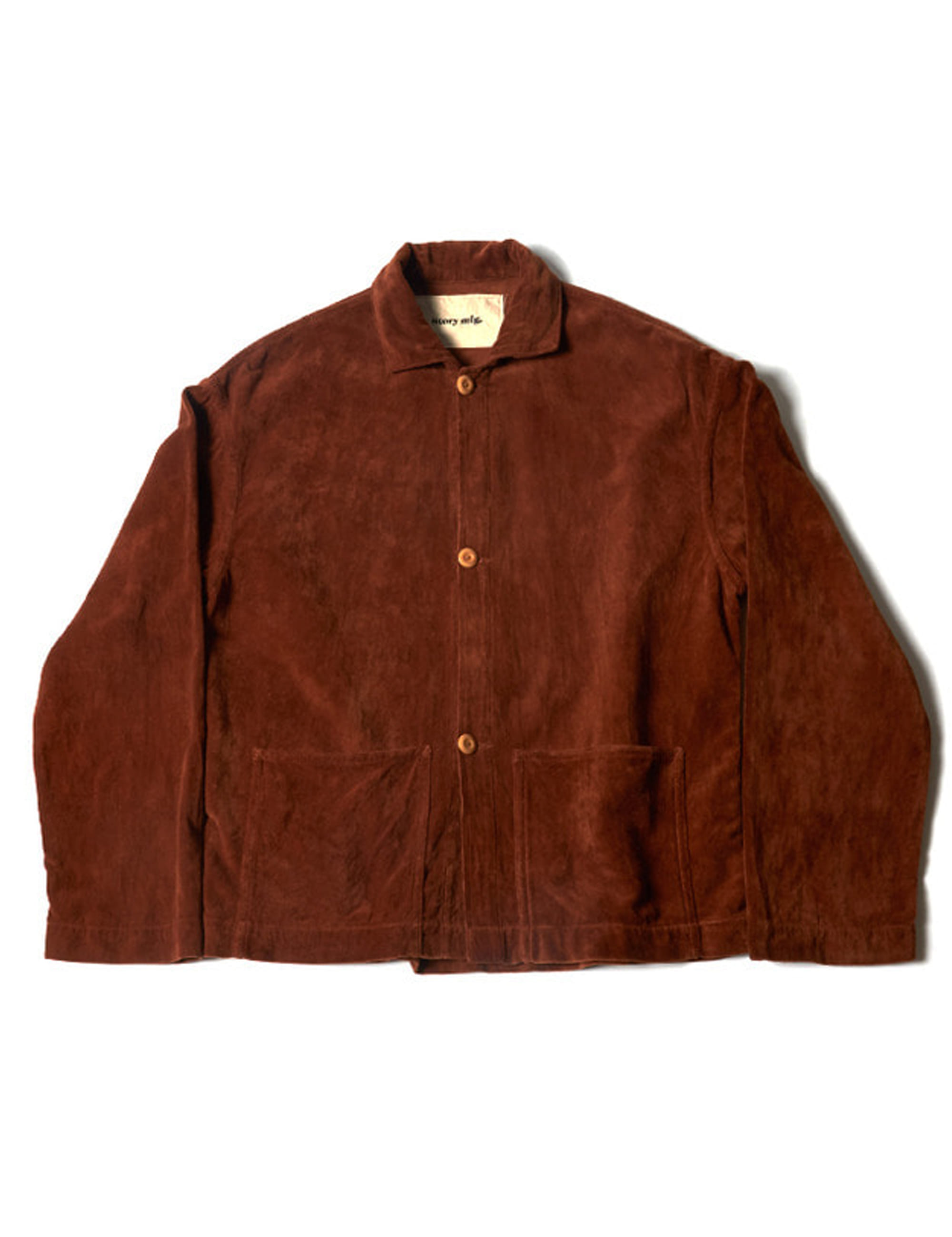 SHORT ON TIME JACKET_BARK VELVET