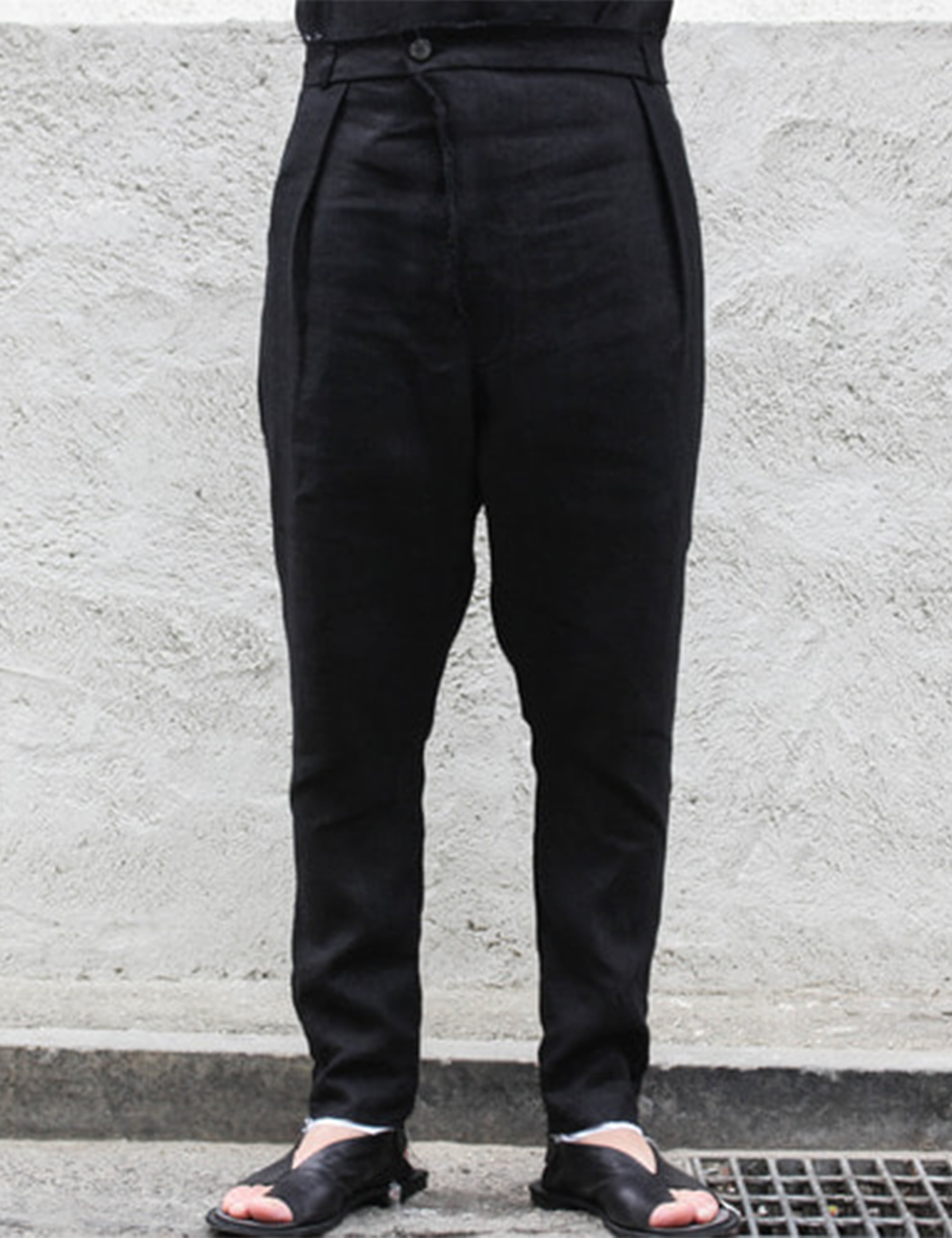 ARI DROPCROTCH TROUSERS_BLACK