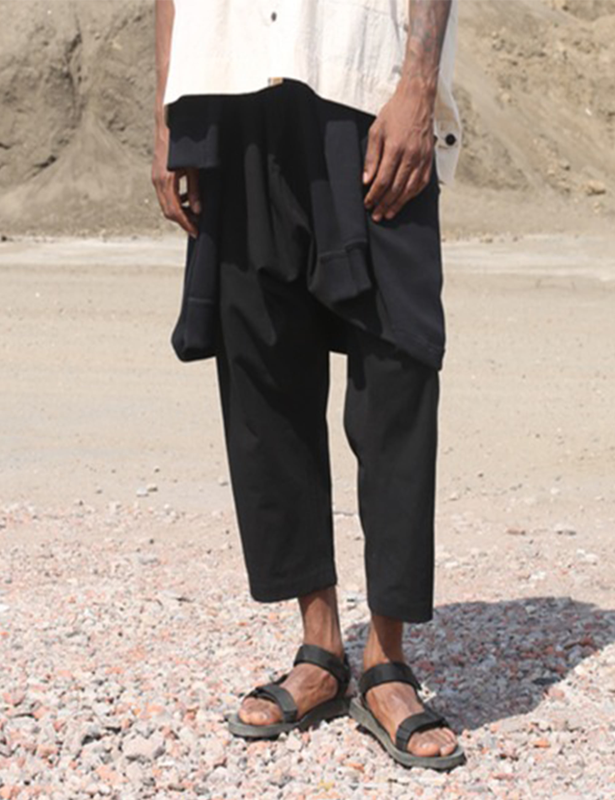 REGULAR FIT TROUSERS_BLACK